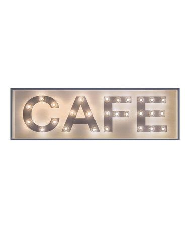 Black & Gray 'Cafe' 42'' Marquee Light Sign by J.G. Mercantile Design #zulily #zulilyfinds