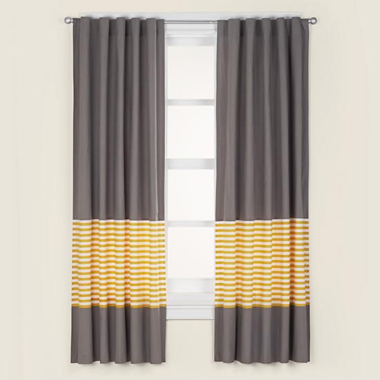 Kids Curtains Grey Yellow Curtain Panels In Hardwares