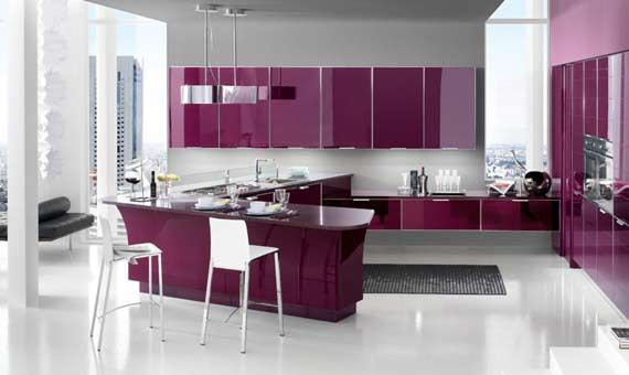 romantic and feminine pink kitchen design ideas from stosa company