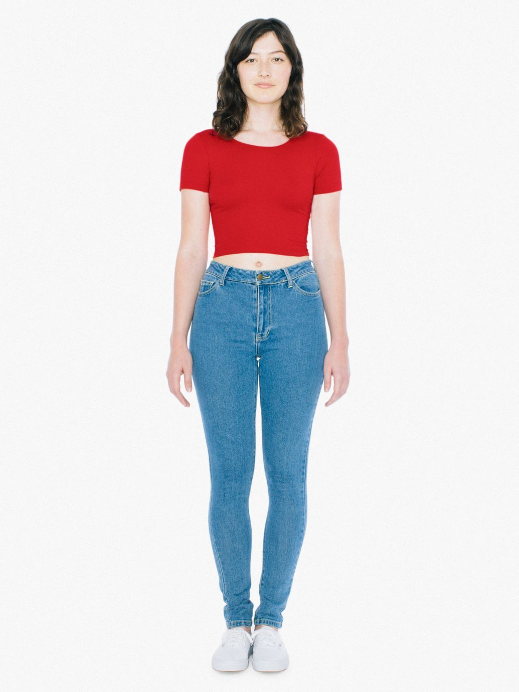 526f64c74ad Cotton Spandex Jersey Crop T-Shirt | American Apparel | Clothes for ...