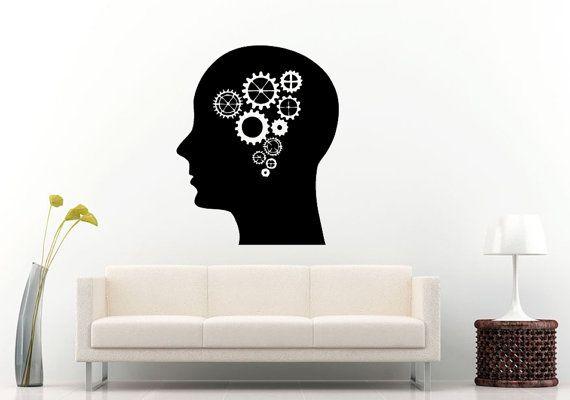 Mechanical Brain Activity Human Thinking Head Enigma Wall ...