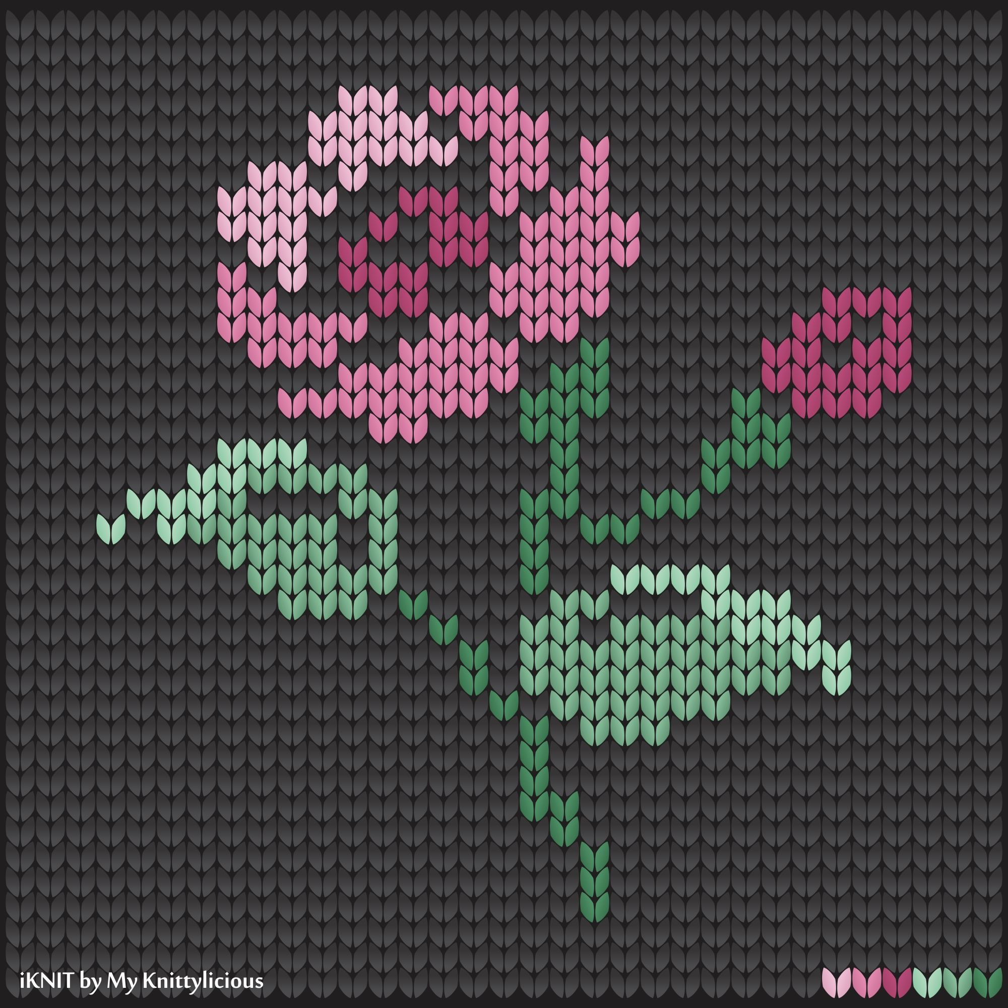 Knitting pattern of the Flower | Cosas para comprar | Pinterest ...