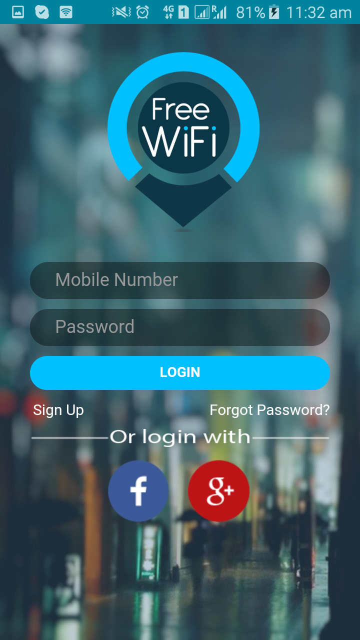 This app helps you locate all the Free Wifi Hotspots in the