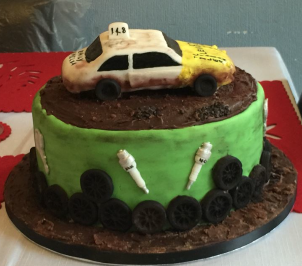 banger racing car cake Boys cakes Pinterest Car cakes Cake