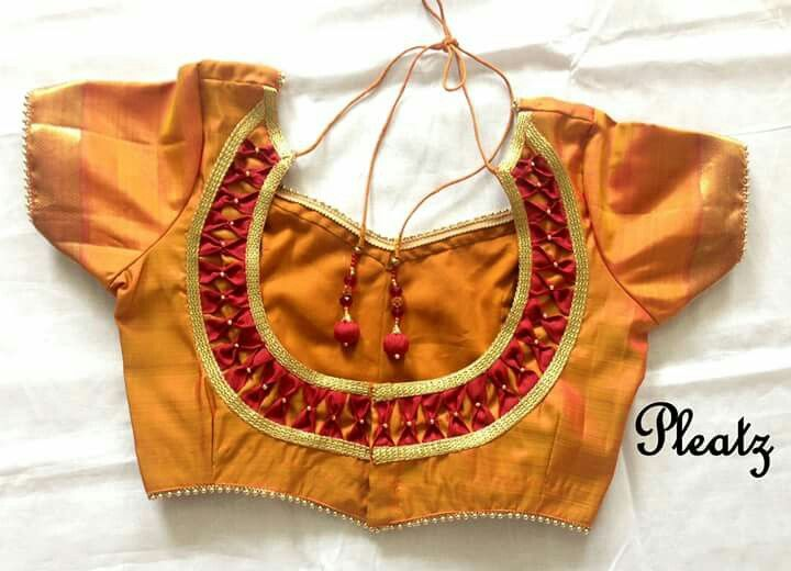Normal Design Blouse Embroidered Blouse Designs Blouse Neck