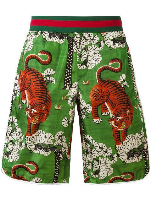 e8a21bd7c0 GUCCI Bengal print swim shorts. #gucci #cloth #принтом | Gucci Men ...