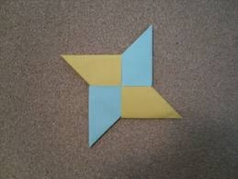 Origami Ninja Star Tutorial Origami Pinterest Ninja Star