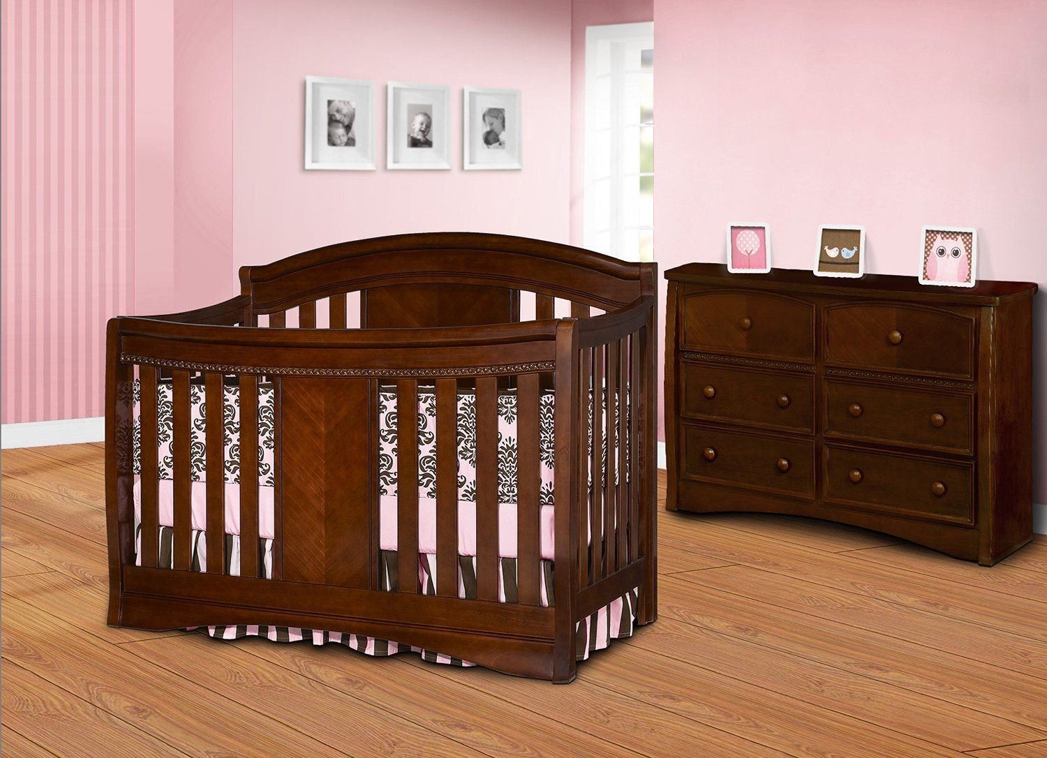 The Simmons Slumber Time Elite 4-in-1 Convertible Kids Crib is a ...