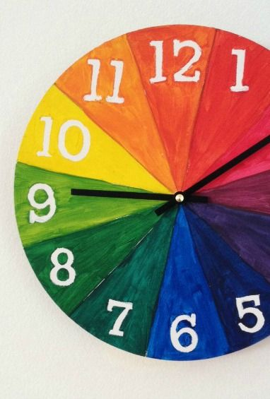 8 Creative Clocks To Help Kids Tell Time Color Wheel Art Projects Color Wheel Projects Color Wheel