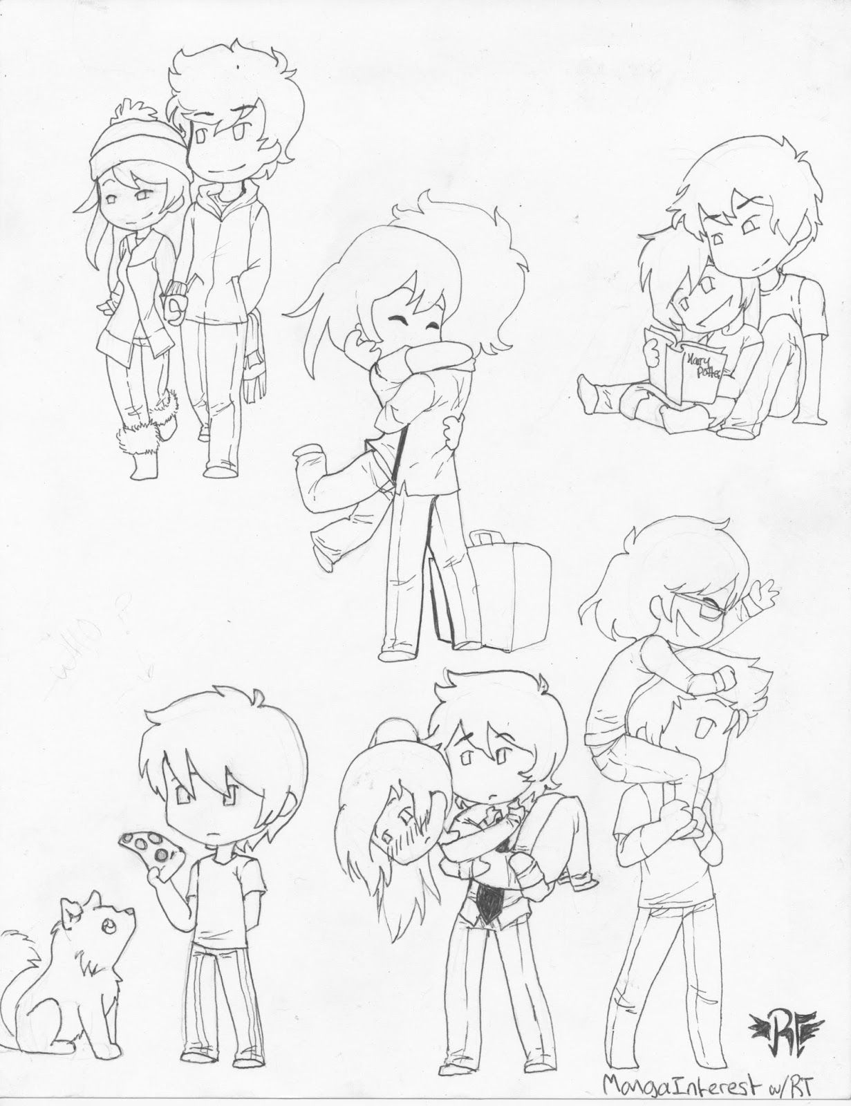 Chibi poses! They make easy blog posts! lol. Chibis are