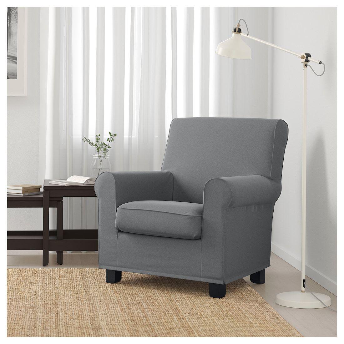 Gronlid Armchair Ljungen Medium Gray Ikea Fabric Armchairs Armchair Ikea Sofa Covers
