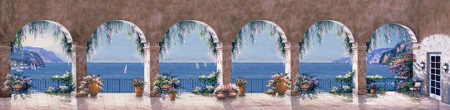 Mediterranean Arch - Panoramic Mural - Sung Kim  Murals Your Way