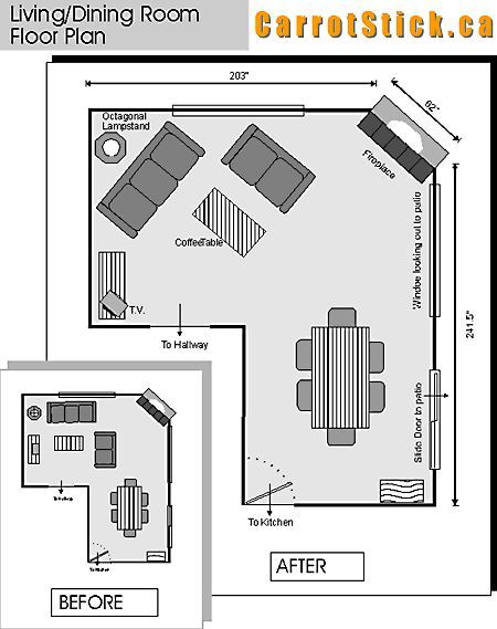 How To Optimize Typical Rental Layouts The L Shaped Living Dining Area