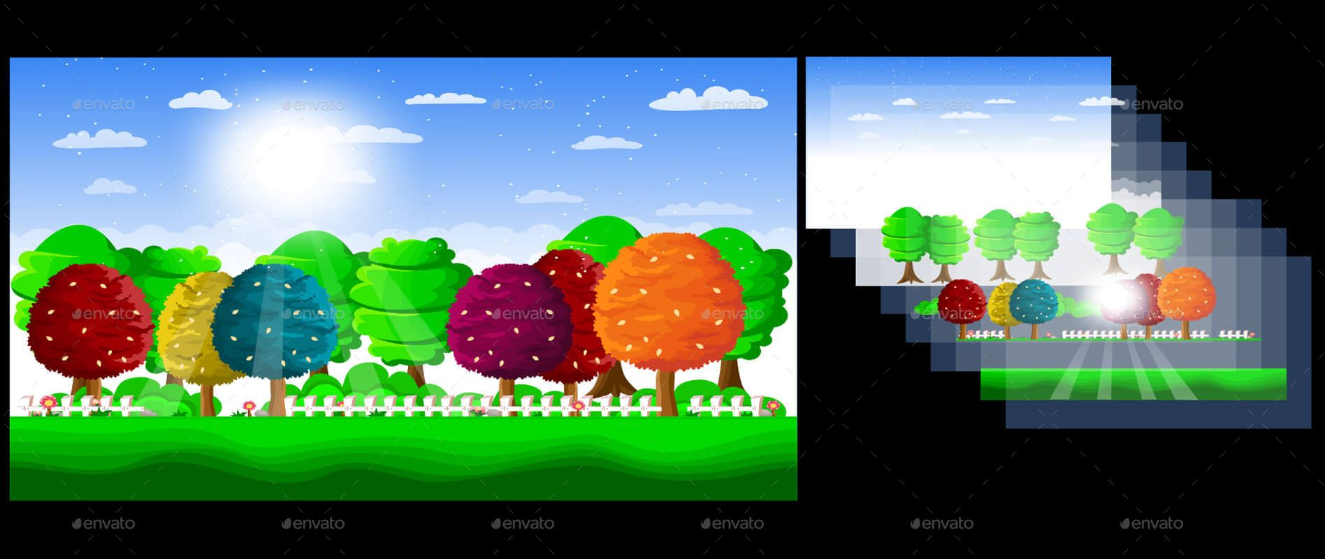 20 Vector Game Backgrounds Parallax Scrolling In 2020 Vector Game Game Background All Games