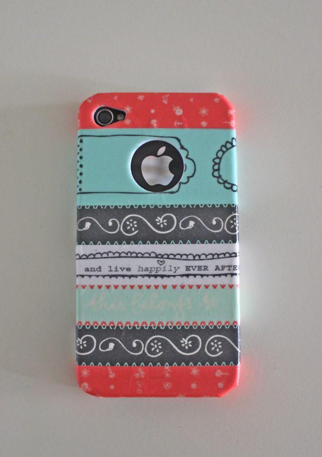 "6da141afc8e DIY ""Washi tape Iphone case"" | Creativity and Chocolate | porta ..."