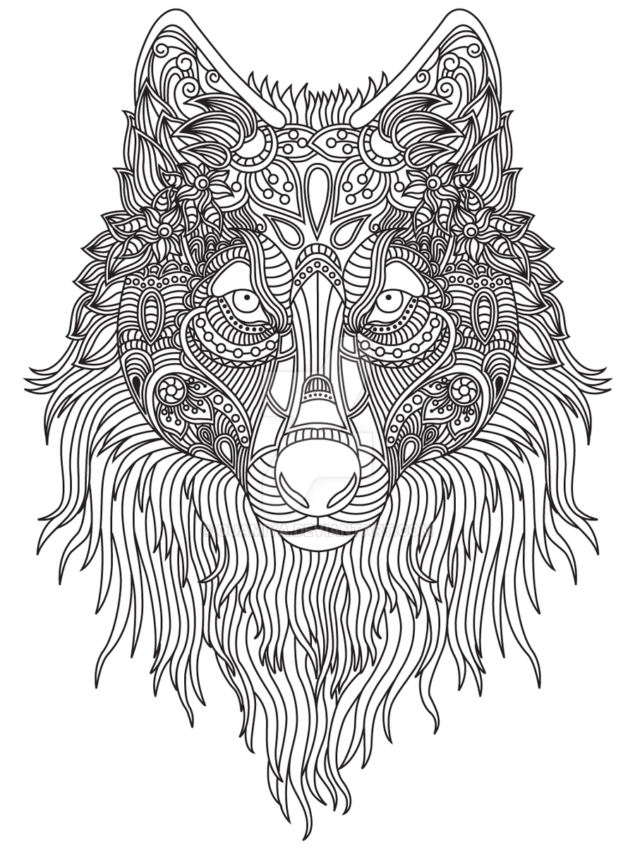 Dog Zentangle Colouring Page By Quamiya Horse Coloring Pages Dog Coloring Page Animal Coloring Pages [ 1204 x 900 Pixel ]