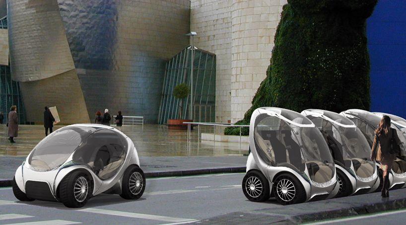 Hiriko Collapsible Electric City Car Car City Car Car Head