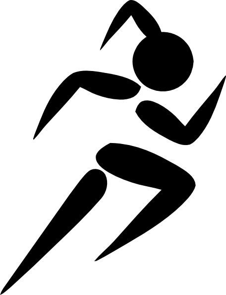 female track runner clip art girl running clip art vector clip rh pinterest com free clipart runner finish line free clipart images of runners