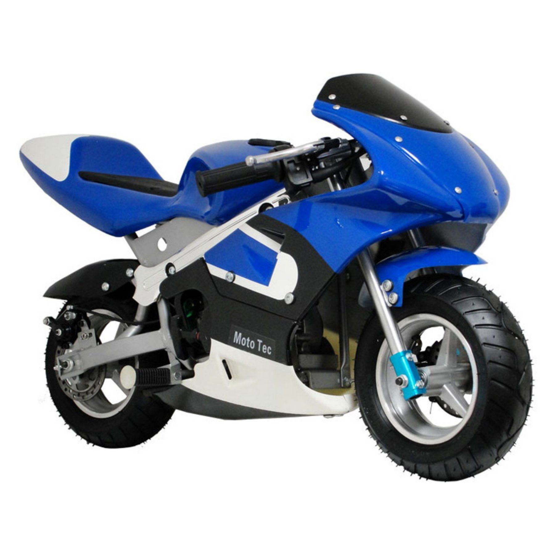 MotoTec Gas Pocket Bike Riding Toy Blue MTGP_BLUE