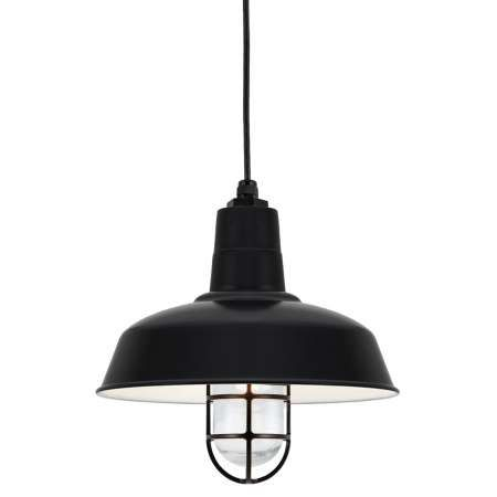 warehouse shade pendant light with cast guard pendant lighting