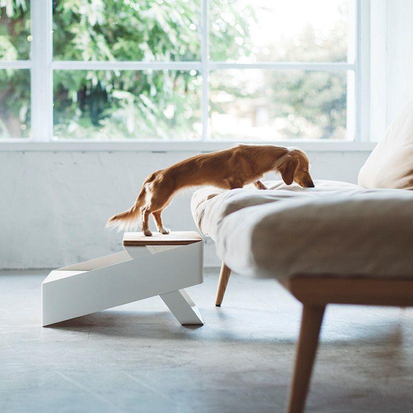 愛犬と一緒に過ごす為のペットステップベッドと足腰の負担を軽減する家具 Pecolo Pet Step ペットステップ ペット タモ材 小型犬