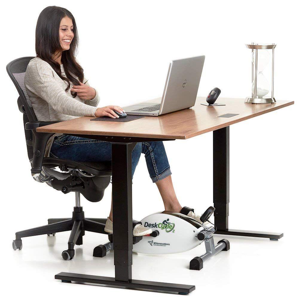 Deskcycle 2 Under Desk Exercise Bike And Pedal Exerciser 119 00 Lowest Price Ever Excellent Reviews Desk Workout Biking Workout Desk
