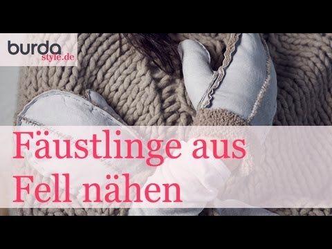 burda style: Fäustlinge aus Fell nähen – Video: burda style/Lena ...