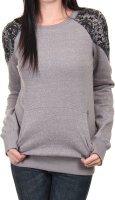 77512fbc4a561a Volcom Royal Pullover Crew Sweatshirt - sparrow - Women s   Women s Clothing    Women s Hoodies   Sweatshirts   Women s Sweatshirts