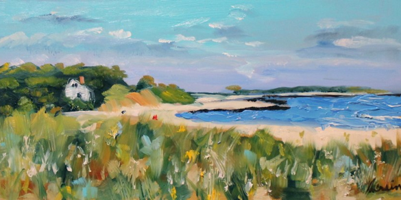 Oil painting of a Beach in Cape Cod by St. Louis artist Kay Crain