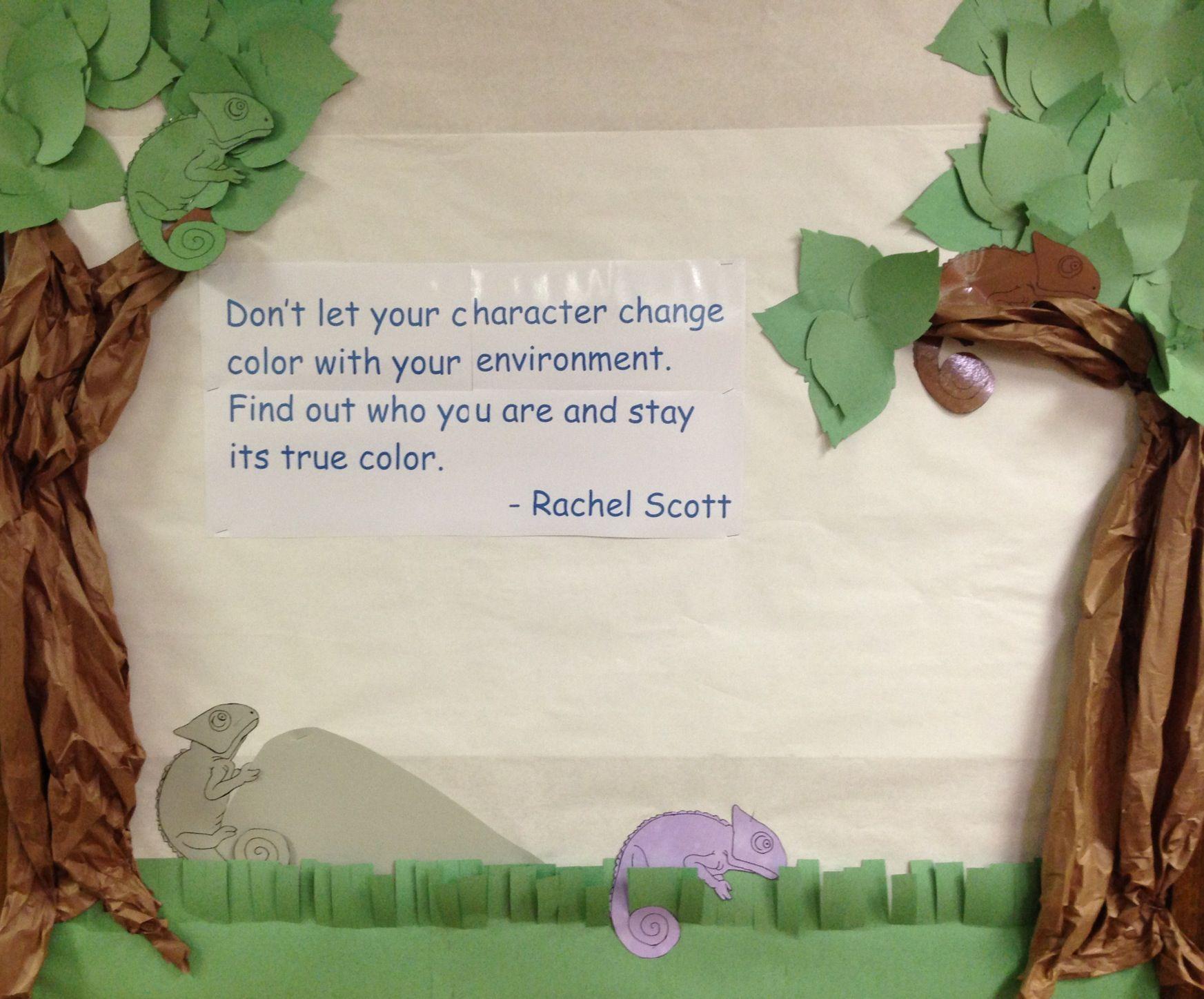 Rachel S Challenge Bulletin Board