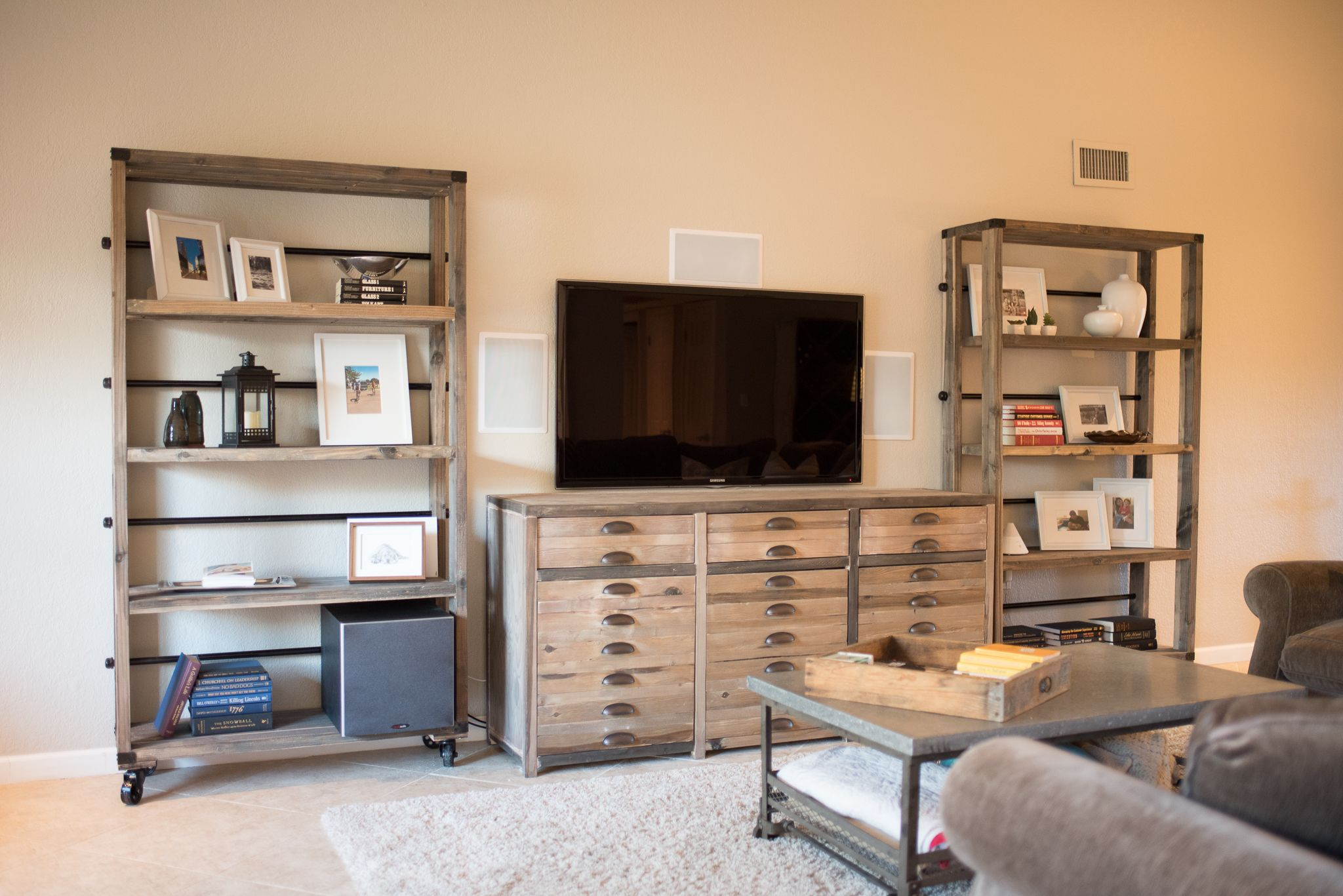 Entertainment center and bookshelves do it yourself home entertainment center and bookshelves do it yourself home projects from ana white solutioingenieria Image collections