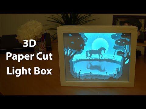 How To Create A 3d Paper Cut Light Box Laser Pinterest