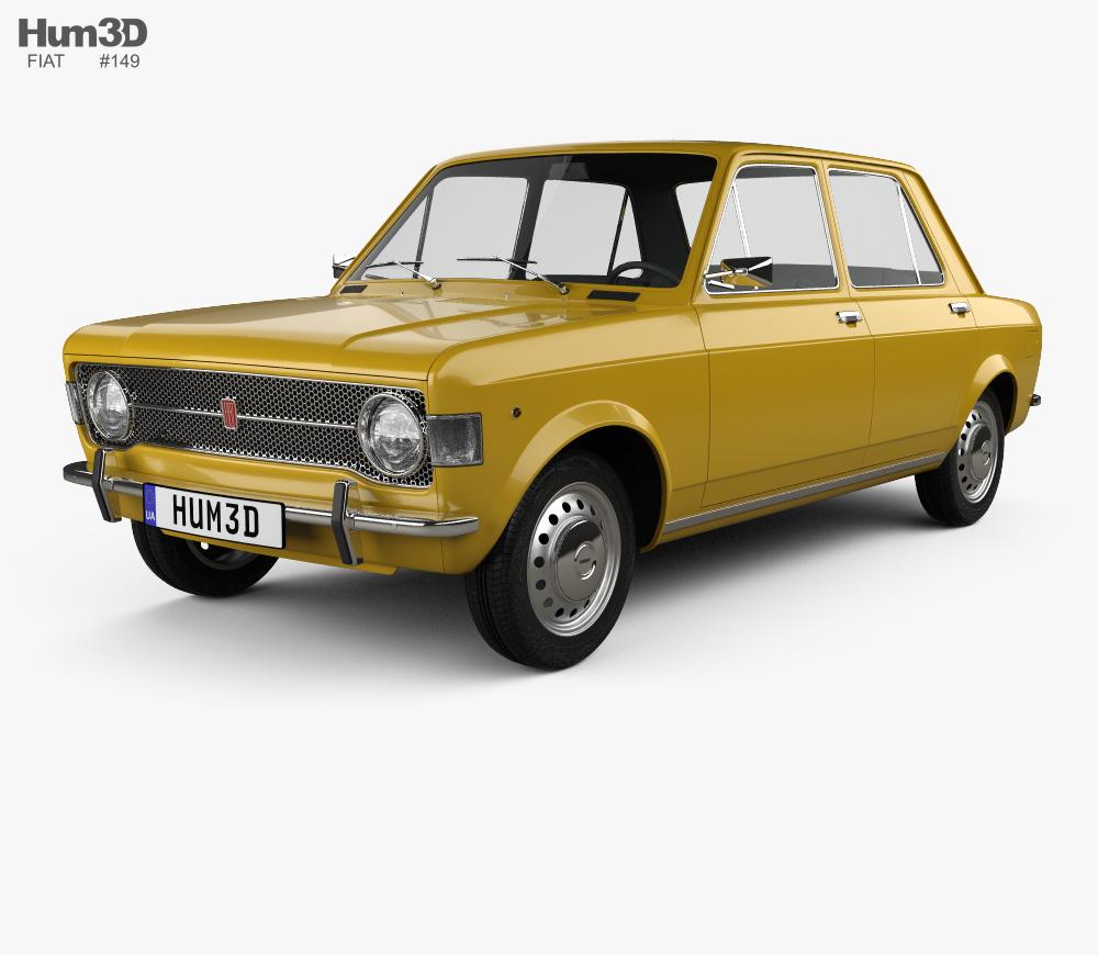 3d Model Of Fiat 128 1969 Fiat 128 Fiat Fiat Cars