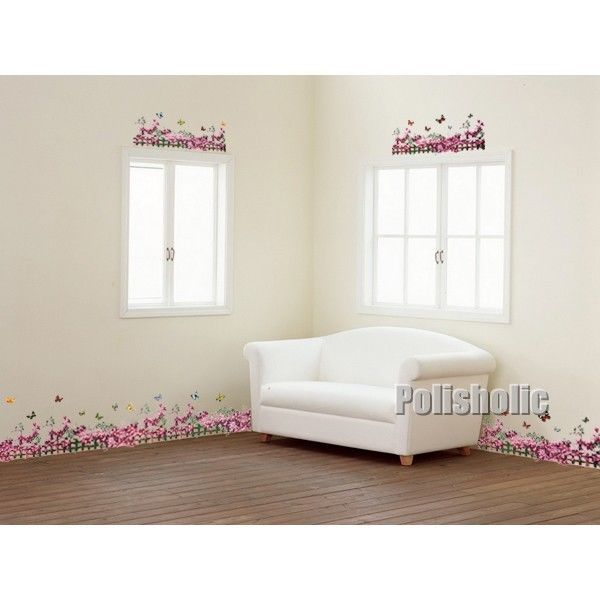 Purple Wisteria Wall Decal DIY Room Sticker Spring Flower Paper Mural Home Decor