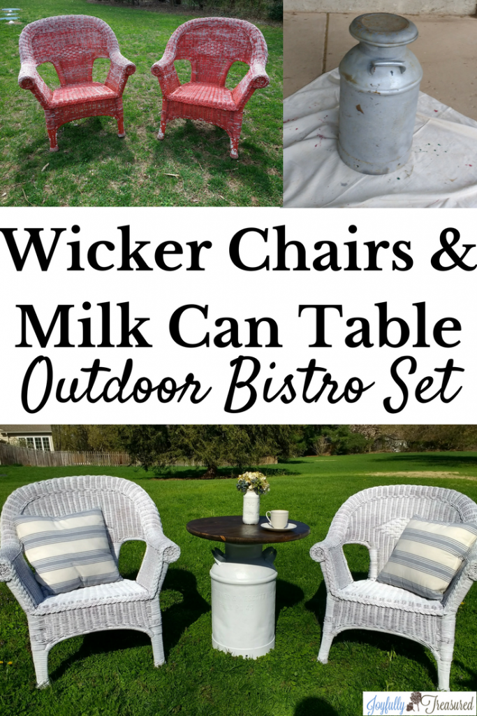 Painting Wicker Chairs and a Milk Can Table, How to Paint