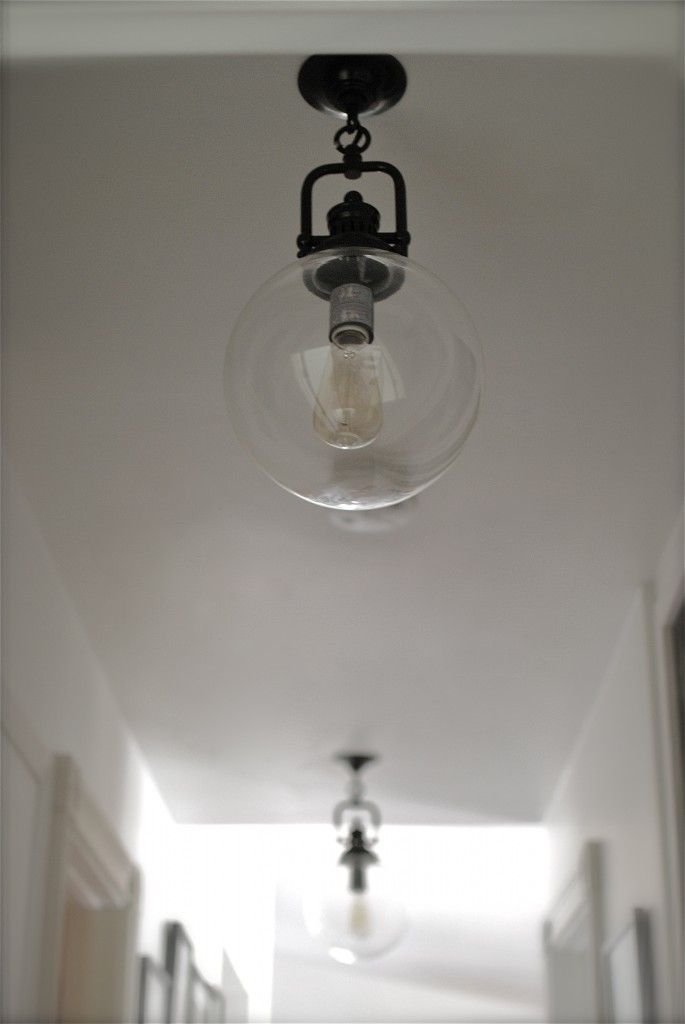 Clear Glass Globe Industrial Pendant Home cozy home Pinterest