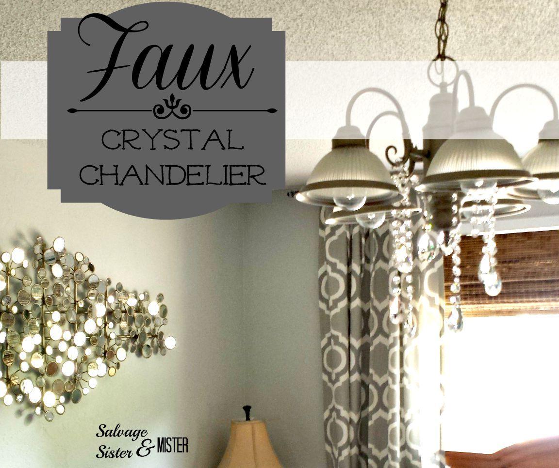 Faux Crystal Chandelier Diy Chandelier Chandelier Diy Projects