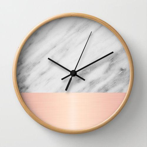 Real Italian Marble and Pink Wall Clock | I LETTORI DI CASAFACILE ...