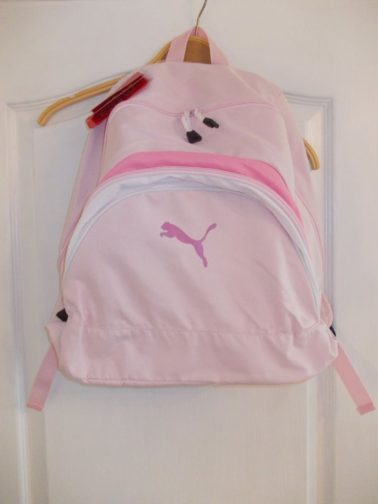 Pink Puma Backpack Ladies Girls Womens Gym School Bag Sports