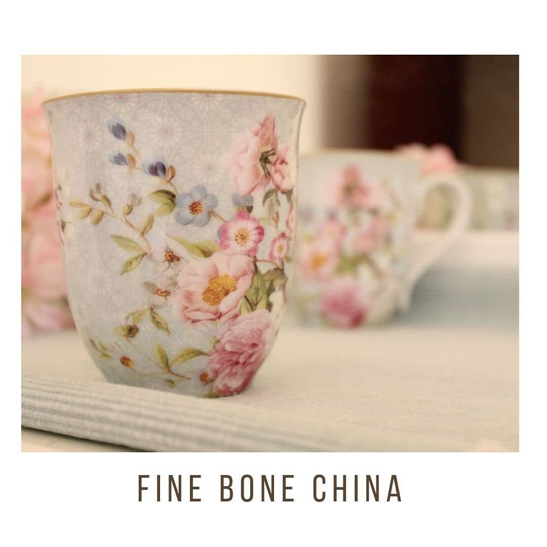Fine Bone China Mugs to make your teatime more delightful  Set of two mugs for Rs.2000 DM to order now  Delivery charges apply
