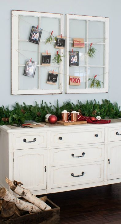use pretty old vintage windows to create a farmhouse chic christmas card display the lilypad cottage