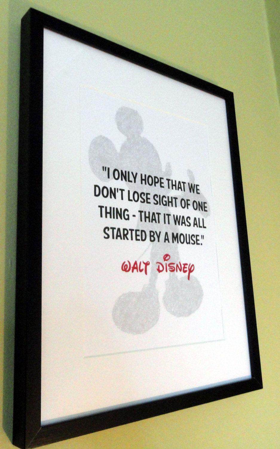 Walt Disney Mickey Mouse Quote Unframed Children\'s Print | Pinterest