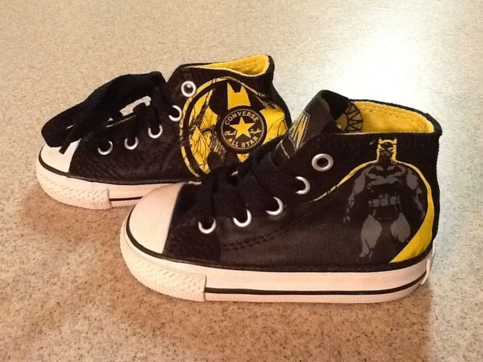 d54af14c327825 Converse All Star High Top Shoes Batman Size 5 Toddler NWOT