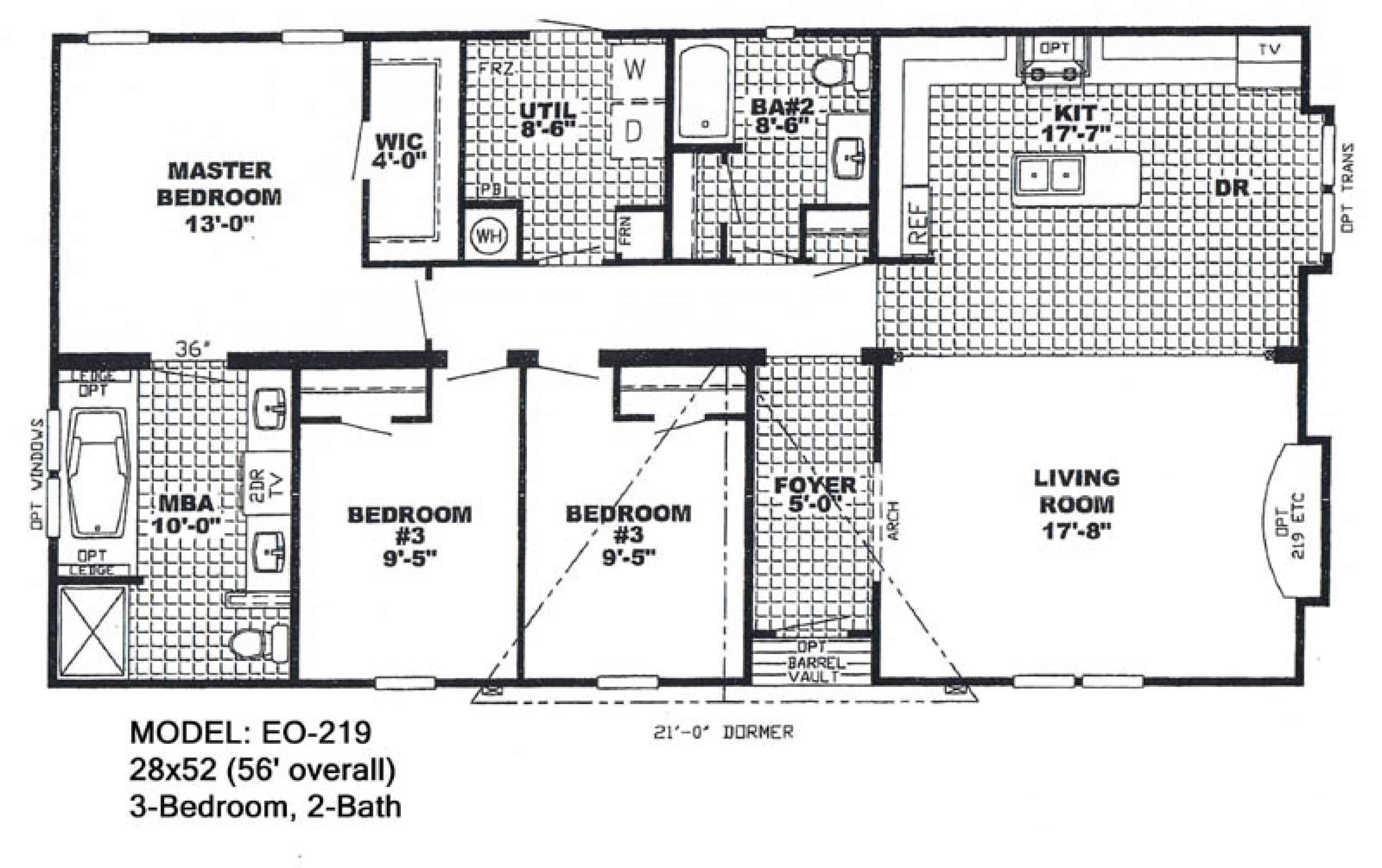 Double Wide Manufactured Homes The Excalibur 3 Bed 2 Bath 1 773 Sq Description From Ujecyfeh Mobile Home Doublewide Luxury Floor Plans Mobile Home Floor Plans