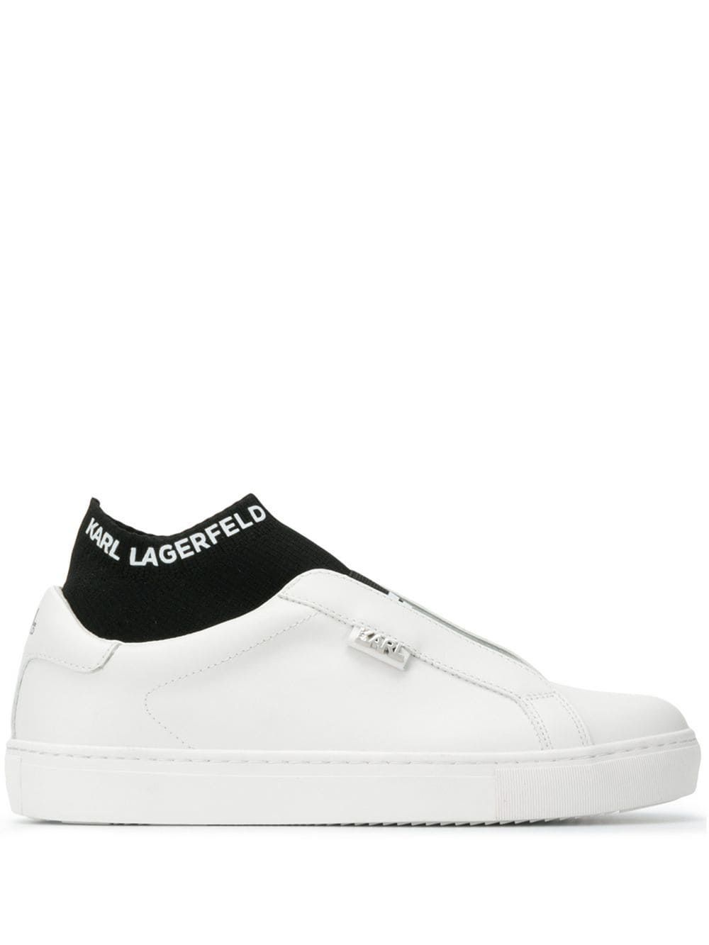 Karl Lagerfeld Layered Sock Sneakers In White Modesens Karl Lagerfeld Socks Sneakers Karl Lagerfeld Fashion