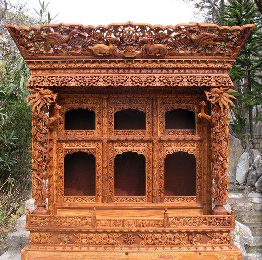 Tibetan Carved Altar Norbulingka Tibetan Carving Pinterest Altars
