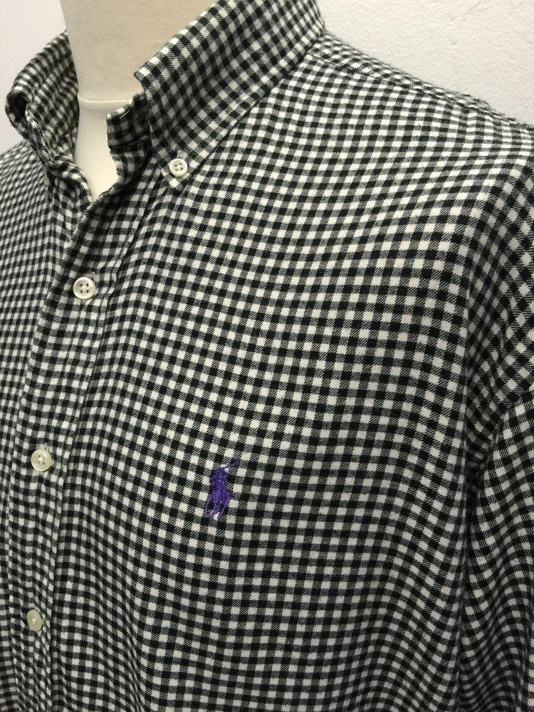cbb8f34ac00 Polo  RalphLauren  Mens  Shirt XL Classic Fit Black White  Gingham Checked  Cotton  menswear  mensfashion  mensstyle