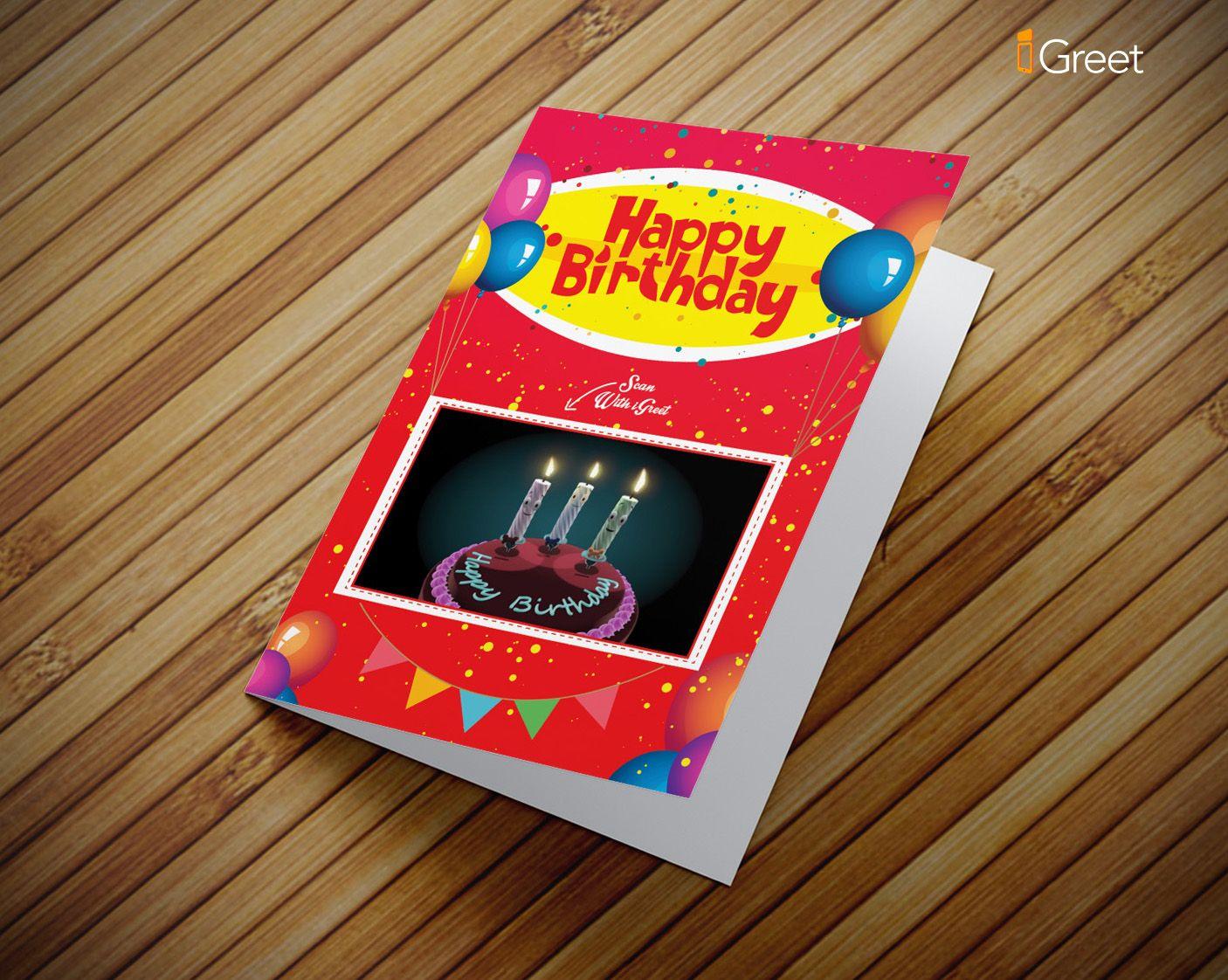 happy birthday singing candles greeting card