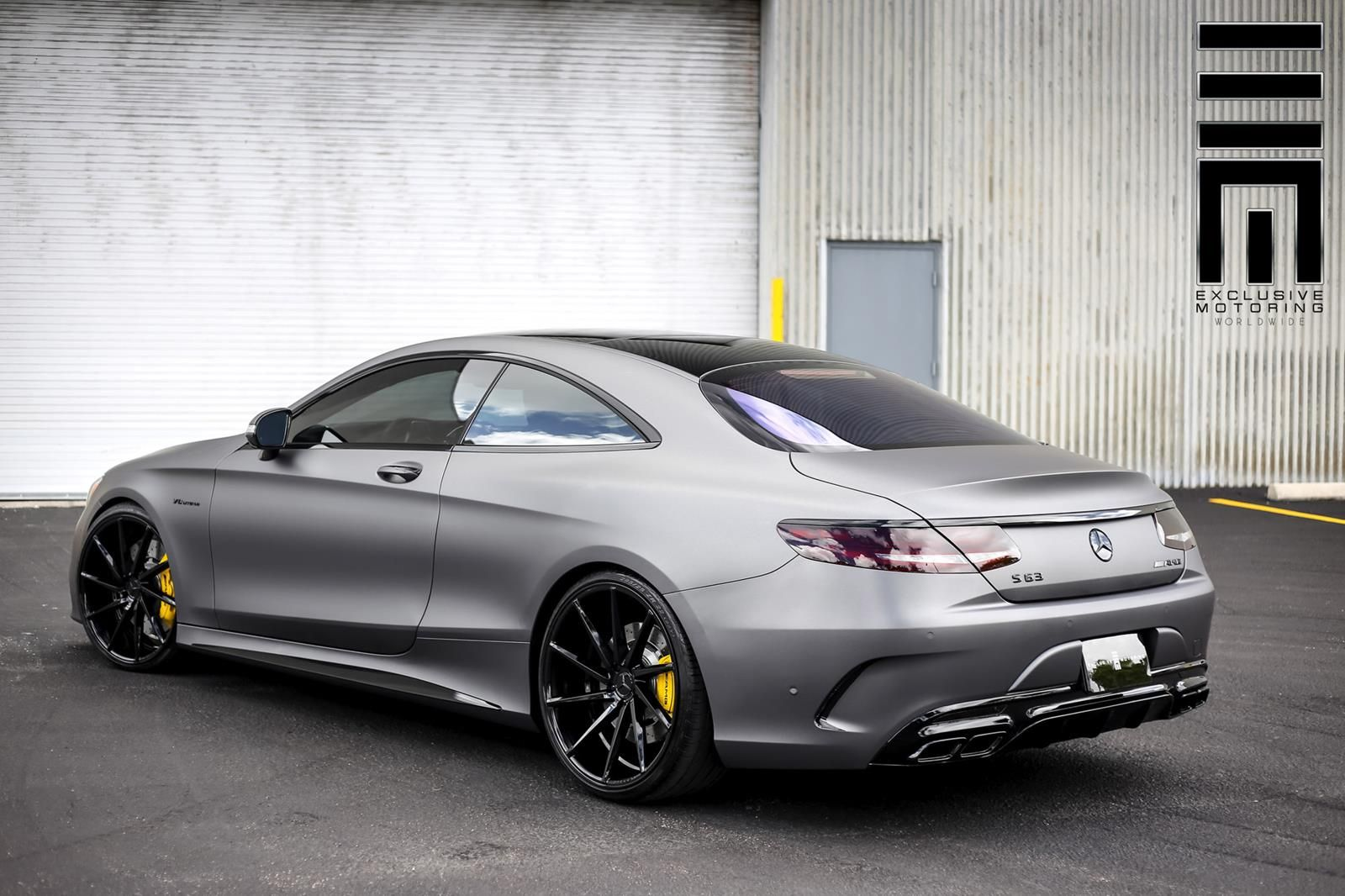 Mercedes s63 amg coupe with a matte gray paint job cars for Mercedes benz jobs
