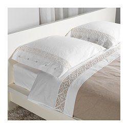 emmie spets drap et taie d 39 oreiller 240x280 65x65 cm ikea d coration drap draps et. Black Bedroom Furniture Sets. Home Design Ideas